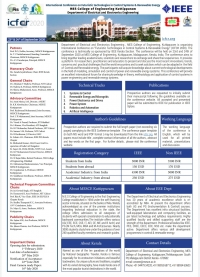"""International Conference on """"Futuristic Technologies in Control Systems & Renewable Energy"""" (ICFCR 2020)"""