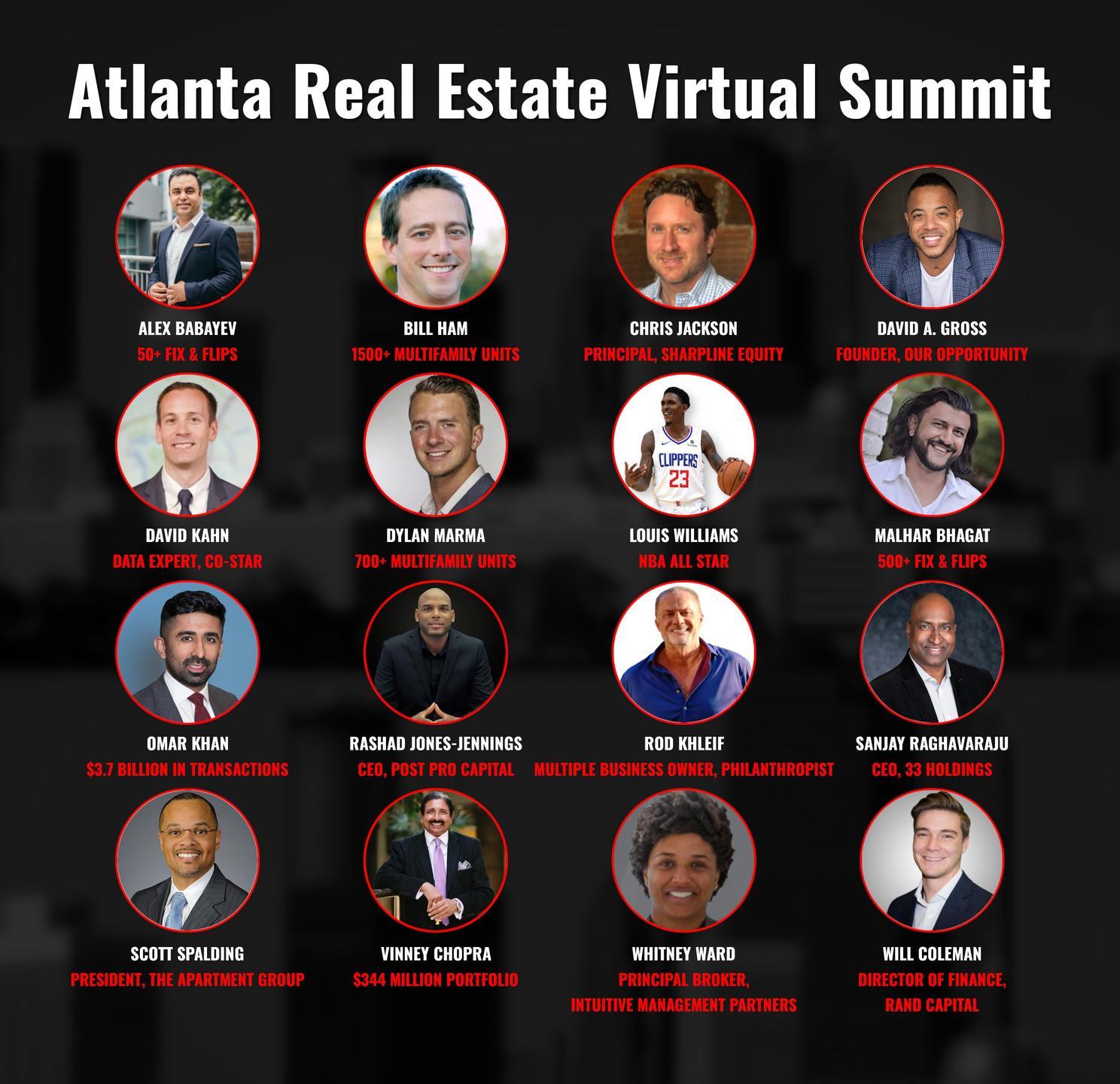 Atlanta Real Estate Virtual Summit (EARLY BIRD SPECIAL!), Atlanta, Georgia, United States