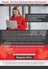 Join Webinar on 'Study in Canada Options'