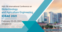2021 7th International Conference on Biotechnology and Agriculture Engineering (ICBAE 2021)