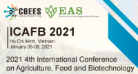 The 4th International Conference on Agriculture, Food and Biotechnology (ICAFB 2021)