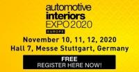 Automotive Interiors Expo Europe 2020 - Stuttgart, Germany - November 10-12