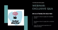 Free invaluable Webinar - Aspiring medical students