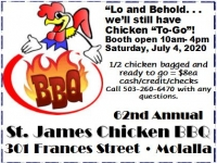 62nd Annual 4th of July St. James Chicken BBQ
