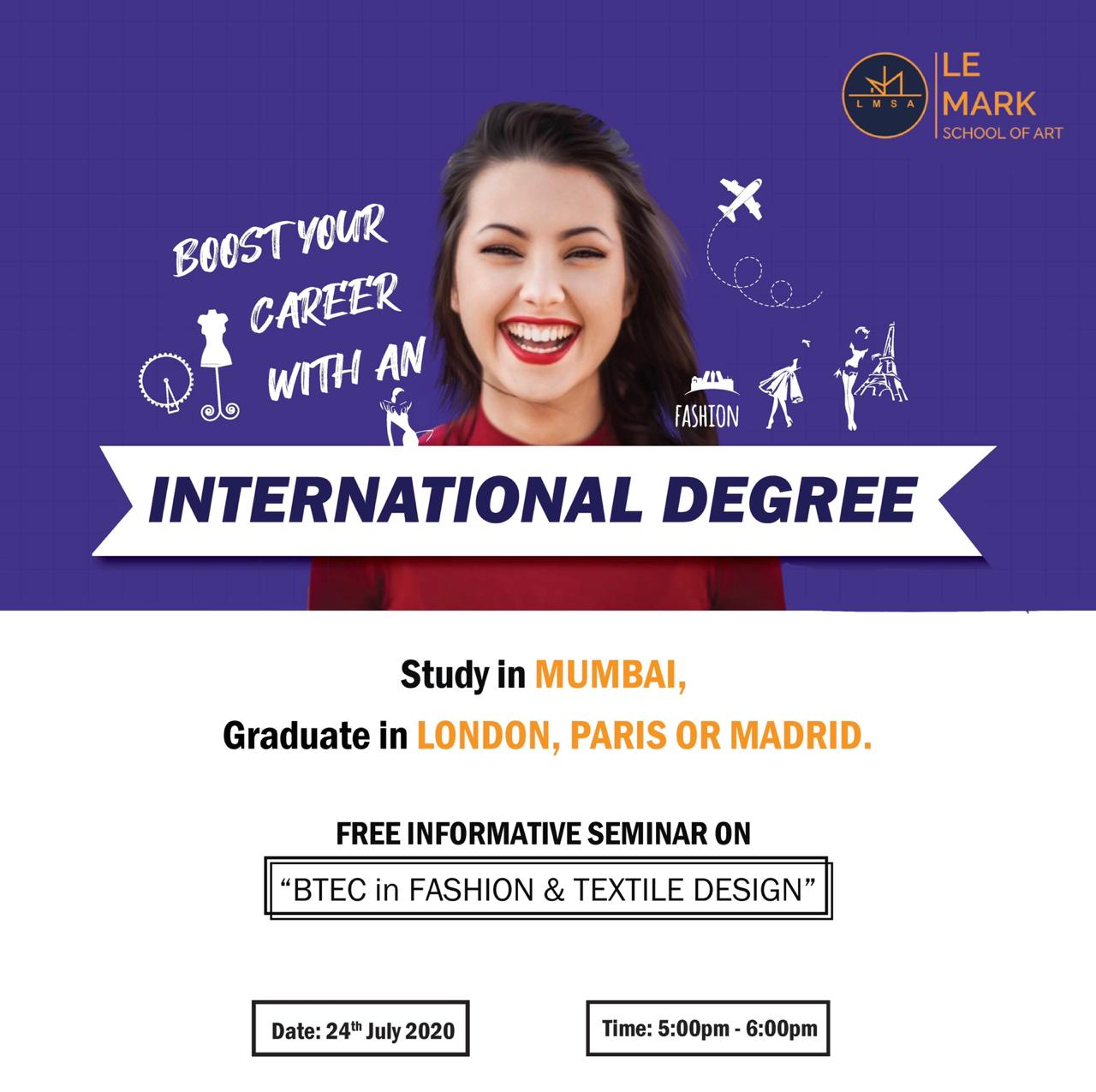 Best Way To Get An International Degree In Fashion Design Webinar