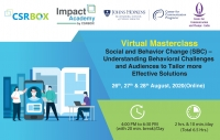 Virtual Masterclass: Social and Behavior Change (SBC) – Understanding Behavioral Challenges and Audiences to Tailor More Effective Solutions