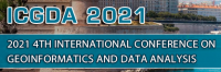 2021 4th International Conference on Geoinformatics and Data Analysis (ICGDA 2021)