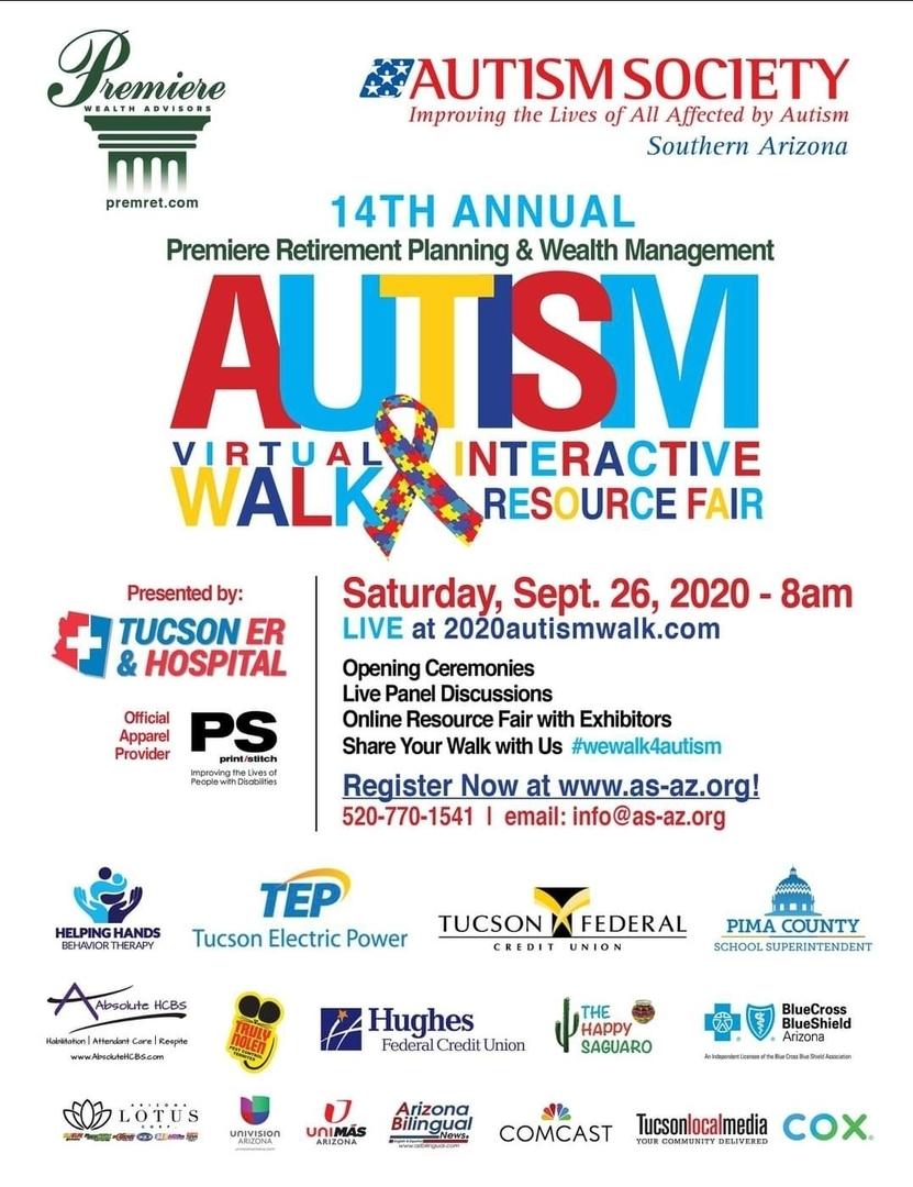 14th Annual Autism Virtual Walk and Interactive Resource Fair, Tucson, Arizona, United States