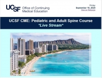 UCSF CME: Pediatric and Adult Spine Course