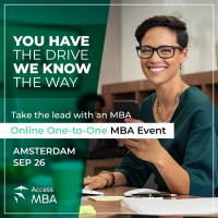 Discover a world of MBA opportunities online with Access MBA on the September 26th