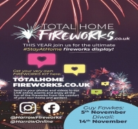 Great big STAY AT HOME fireworks display, London and Harrow.