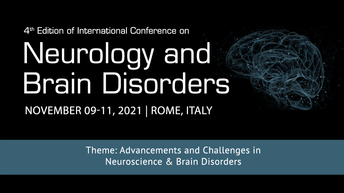 4th International Conference on Neurology and Brain Disorders, Holiday Inn Rome Aurelia, Italy