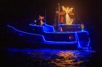 Lower Columbia Christmas Boats, New Years Day, Willow Grove Park, Longview WA