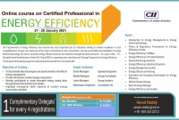 Online course on certified Professional in Energy Efficiency