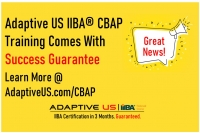 CBAP Training - 100% Success or 100% Refund - 400+ CBAPs - Live Online Weekend - USA, Canada, Europe