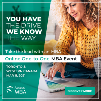 Build your future safely ONLINE with Access MBA in Toronto and Western Canada!