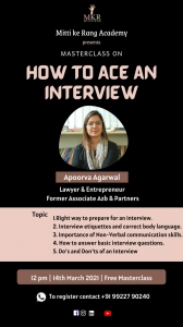Mitti Ke Rang Academy brings to you a Masterclass on - How to ace an Interview