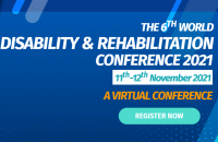 The 6th World Disability and Rehabilitation Conference 2021 (WDRC 2021)