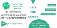 The 3rd International Conference on Graphene and Novel Nanomaterials (GNN 2021)