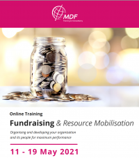 """Online training course """"Fundraising & Resource Mobilisation"""" 11 – 29 May 2021"""