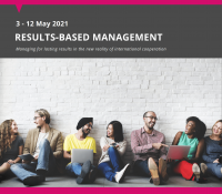 """Online training course """"Result Based Management"""" 3 – 12 May 2021"""