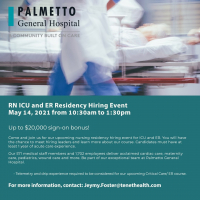RN ICU and ER Residency Hiring Event - 5/14