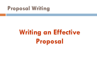 Project Proposal and Report Writing Skill Course