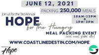 Hope for the Hungry Meal Packing event