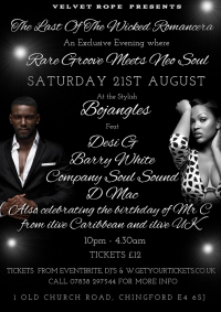 Rare Grooves and Soul Night at Bojangles in Chingford!