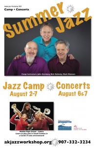 AK Jazz Workshop August 2-7, 2021 Jazz Camp