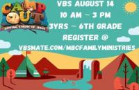 Macedonia Baptist Church VBS 2021: Camp Out