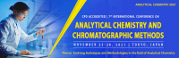 CPD Accredited   7th International Conference on Analytical Chemistry and Chromatographic Methods