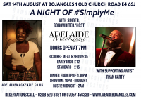 A Night of Simply Me - A Live Music Experience with Adelaide MacKenzie in Chingford