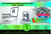 Workshop on Rapid Prototyping & Tooling – 3d Printing (Proto-2016)