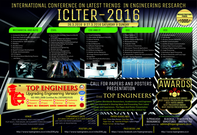 international conference on latest trends in engineering research iclter 2016