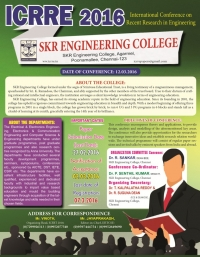 International Conference on Recent Research in Engineering- (ICRRE 2016)