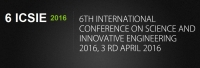 CFP - 6 th International Conference on Science and Innovative Engineering 2016 (ICSIE-2016)