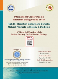 High LET Radiation Biology and Complex Natural Products in Biology and Medicine (ICRB 2016)