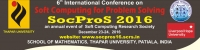6th International Conference on Soft Computing for Problem Solving (SocProS 2016)