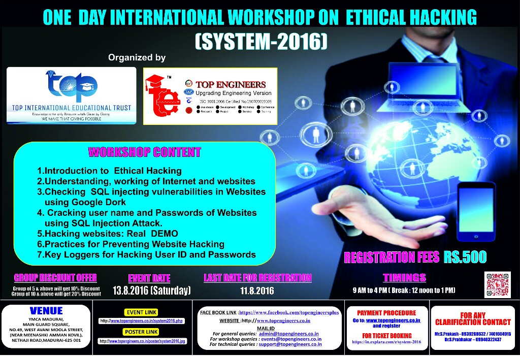 One Day International Workshop on Ethical Hacking and