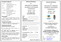 National Workshop on Research In Composite Materials And Welding Technology