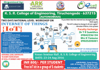 "Two days National level Workshop on ""Internet of Things"" in association with E-cell IIT Bombay- Robokart"