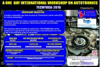 TECHYUGA-2016 (One Day National Level Workshop on Autotronics)