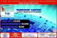 AUTOJETBLAZE-2016 (One Day National Level Workshop on Autotronics)