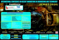 ICRIET-2016 (International Conference on Recent Innovations in Engineering and Technology)