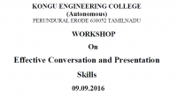 "Workshop On ""Effective Conversation And Presentation Skills"""