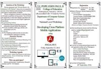 "National Level Workshop On Developing Cross Platform Mobile Applications Using ""Angular JS"""