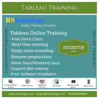 TABLEAU Online Training classes in Hyderabad,India|USA|UK|Australia|Free Demo