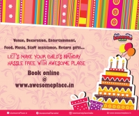Celebrate Birthdays at Awesome Place, Bangalore