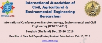International Conference on Nanotechnology, Environmental and Civil Engineering (ICNECE-2016)